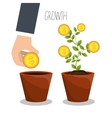 Business profits growth vector image