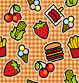 food icons seamless background vector image vector image