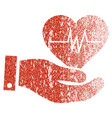 cardiology grunge texture icon vector image