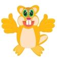 Cartoon animal beaver vector image