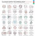 Cloud data technology database ultra modern vector image