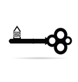 key with home sweet home vector image