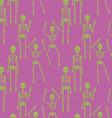 Seamless pattern with skeletons vector image