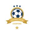 Soccer Football Badge circle and ribbon vector image