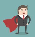 Successful businessman super hero vector image