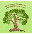 Summer tree poster vector image