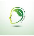 think green vector image
