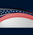 usa flag backgrounds design vector image