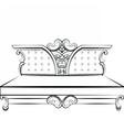 Royal Sofa in Baroque style vector image