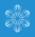 brittle snowflake icon simple style vector image vector image