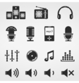 Sound and Music Icons vector image