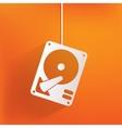 Hard disc icon vector image
