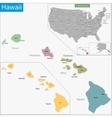Hawaii map vector image