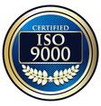 ISO 9000 vector image vector image