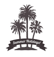 Exotic Palm Banner for Tourism vector image vector image