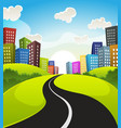 downtown cartoon landscape vector image