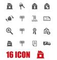 grey real estate icon set vector image