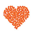 heart made of red caviar vector image