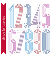 Lined geometric numeration colorful light numbers vector image
