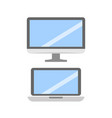 set of pc flat icons collection vector image