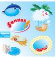 summer beach frames and elements set vector image