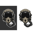 Fighter Pilot Helmet vector image
