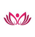 Beauty Lotus Logo Template vector image