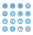 several style of heart icons set vector image