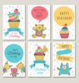 design of celebration cards kids invitation for vector image