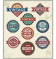 Set of retro vintage badge and label design set vector image vector image