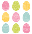 Easter Eggs Hand Drawn Doodle vector image vector image