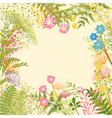 Springtime colorful flower herb garden party vector