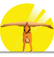 female gymnast vector image vector image