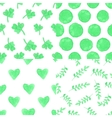 Watercolor blue plantdroppolka dot seamless vector image