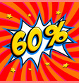 60 off sixty percent 60 off sale on red twisted vector image