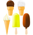 ice cream and popsicle vector image vector image