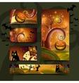 Halloween cards set vector image