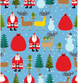 Christmas pattern Background of snowfall vector image