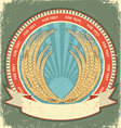 vintage wheat label vector image vector image
