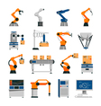 Automation Icons Set vector image