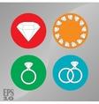 briliant icons jewelry diamonds vector image vector image