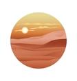 Beautiful sunset over the sand dunes Sahara vector image