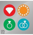 briliant icons jewelry diamonds vector image