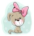 Cute Cartoon Puppy vector image