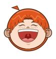 happy young boy icon vector image