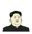 Kim jong-un flat design vector image