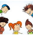many children greetings vector image