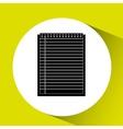 notebook paper design vector image