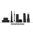 shanghai architecture city skyline travel vector image