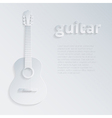 with a shadow guitar vector image